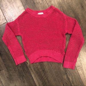 Kids Pink Sparkle See Thru Sweater
